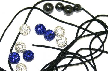 DIY Pave Crystal Bracelet Kit - Blue / White - SC